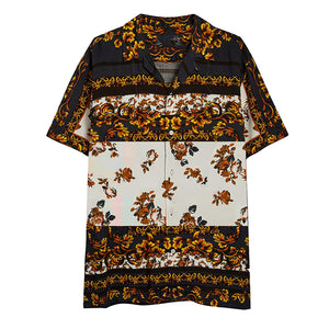 Fashion Printed Colour Turndown Collar Blouse - yatacity