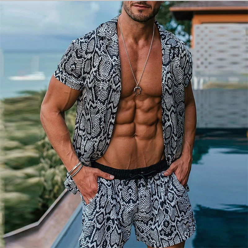 Summer Fashion And Comfortable Snake Printed Suits - yatacity
