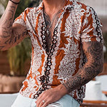 Fashion Pineapple Printed Short Sleeve Shirt - yatacity
