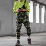 Fashion Men's Army Green Camouflage Printed Jumpsuits - yatacity