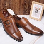 Elegant Men's Buckle Business Shoes - yatacity