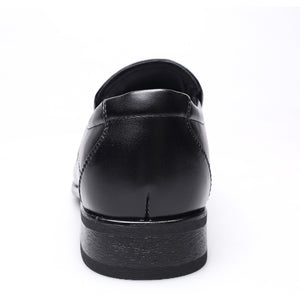 Hand-Wiped Small Square Head Japanese Shoes - yatacity