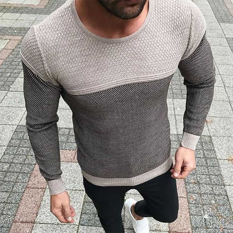 Active Long Sleeve Men Pure Color T-Shirt - yatacity