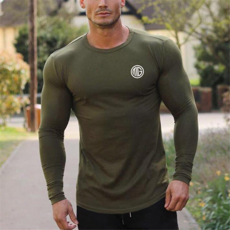 Men's Oversize Sports Long Sleeve T-Shirt