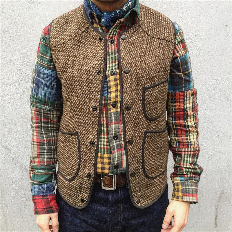 Autumn And Winter Single-Breasted Knit Vest - yatacity