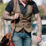 Men's Single-Breasted Solid Color Vest