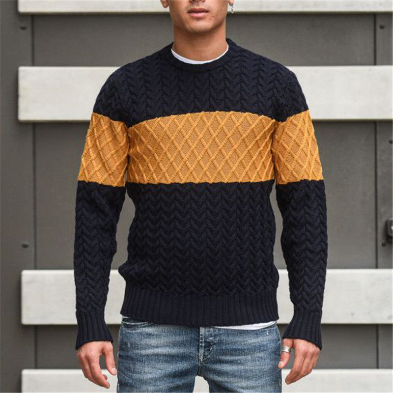 Fashion Everyday Pile Collar Color Sweater - yatacity
