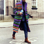 Modern Creative Contrast Color Long Coat - yatacity