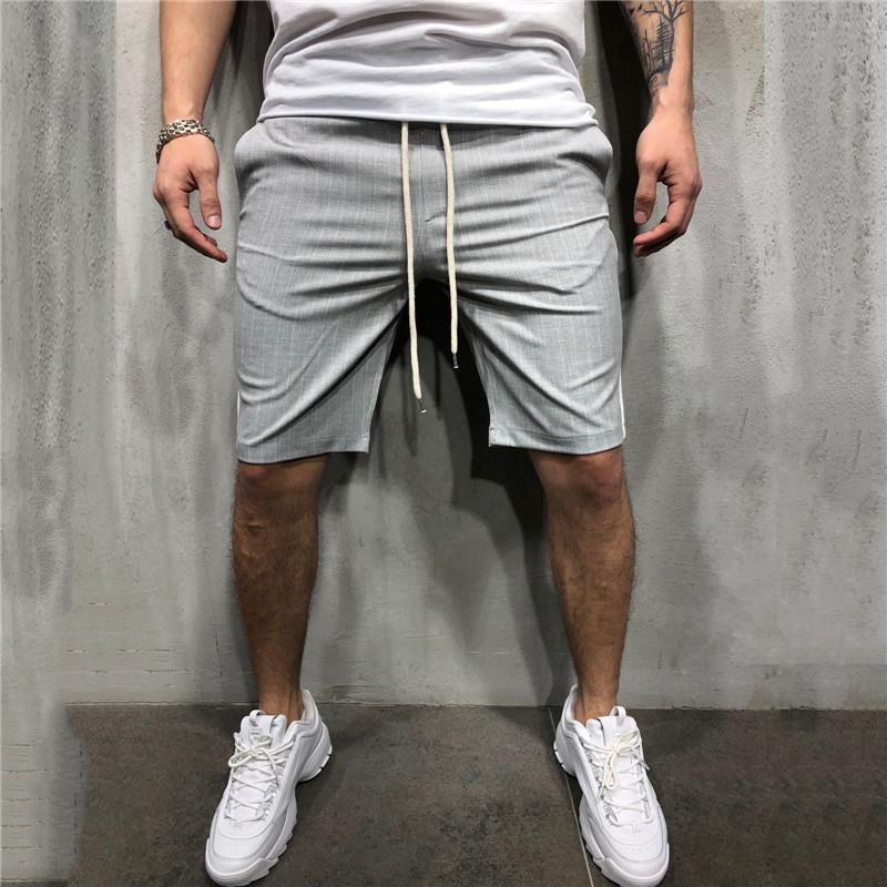 Casual Drawstring Loose Strip Short Pants - yatacity