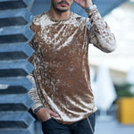 Men's Fashion Solid Color Long Sleeve T-Shirt - yatacity