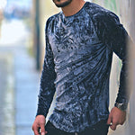Men's Fashion Round Neck Long Sleeve T-Shirt - yatacity