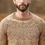 Round Neck Long Sleeve Khaki Knit Sweater - yatacity