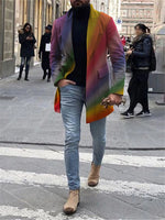 Business Rainbow Print Lapel Jacket - yatacity