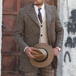 Men's Plaid Slim Casual Blazer - yatacity