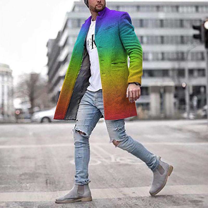 Rainbow Gradient Coat Jacket - yatacity