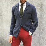 British Style Lapel Knit Cardigan - yatacity
