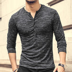 Casual Round Neck Pure Colour Long Sleeve T-Shirt - yatacity