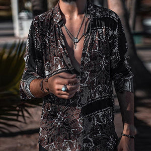 Summer   Fashion Printed Long-Sleeved Shirt - yatacity