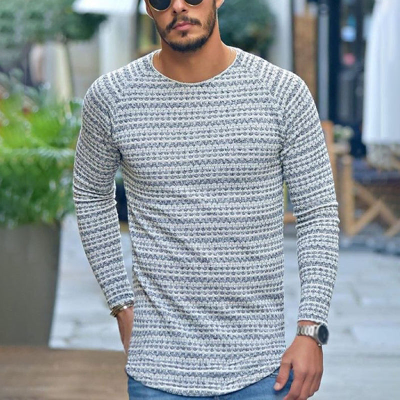 Commuting Pure Color Round Neck Long Sleeve Loose T-Shirt - yatacity
