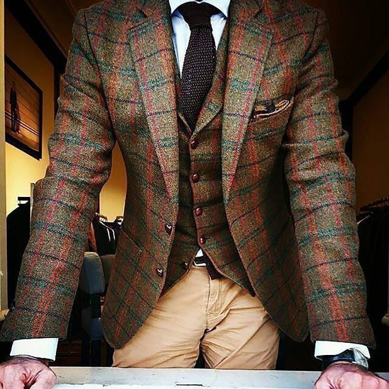 Formal Multicolor Check Blazer - yatacity