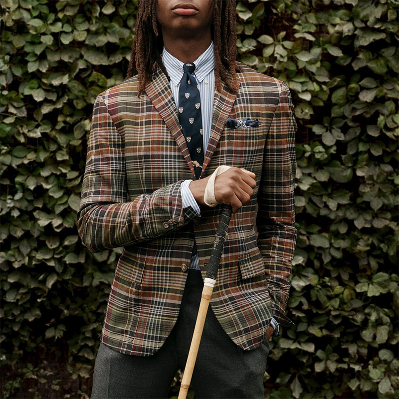 Vintage Men'S Plaid Blazer - yatacity