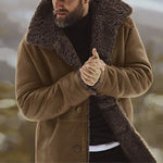Men's fashion thick button warm coat - yatacity