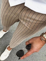 Casual Striped Slim Men's Trousers - yatacity