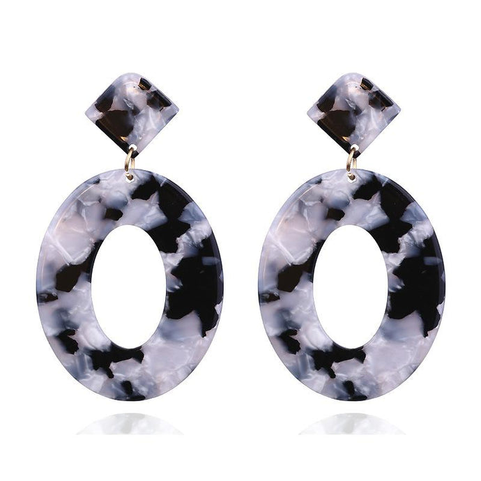 Dalmatian Oval Resin Earrings