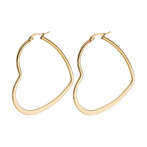 40mm Heart Hoops (Rose Gold Plated)