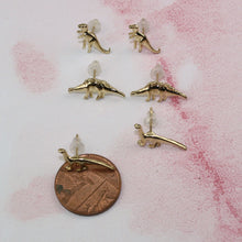 Load image into Gallery viewer, 6 piece Dinosaur Earring Set/Gold Plated