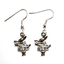 Load image into Gallery viewer, Alice in Wonderland White Rabbit Earrings