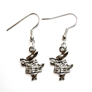 Alice in Wonderland White Rabbit Earrings