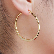 Load image into Gallery viewer, 304 Stainless Steel Hoop Earrings Gold Plated Round 41mm