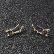 Load image into Gallery viewer, Constellation Ear Climbers (Gold Plated)