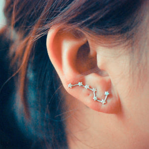 Constellation Ear Climbers (Silver plated)