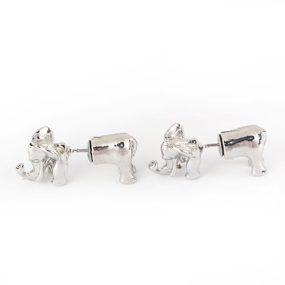 2 Piece Elephant Earrings