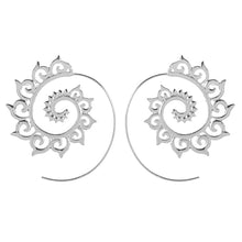 Load image into Gallery viewer, Spiral Earrings (Silver Plated)