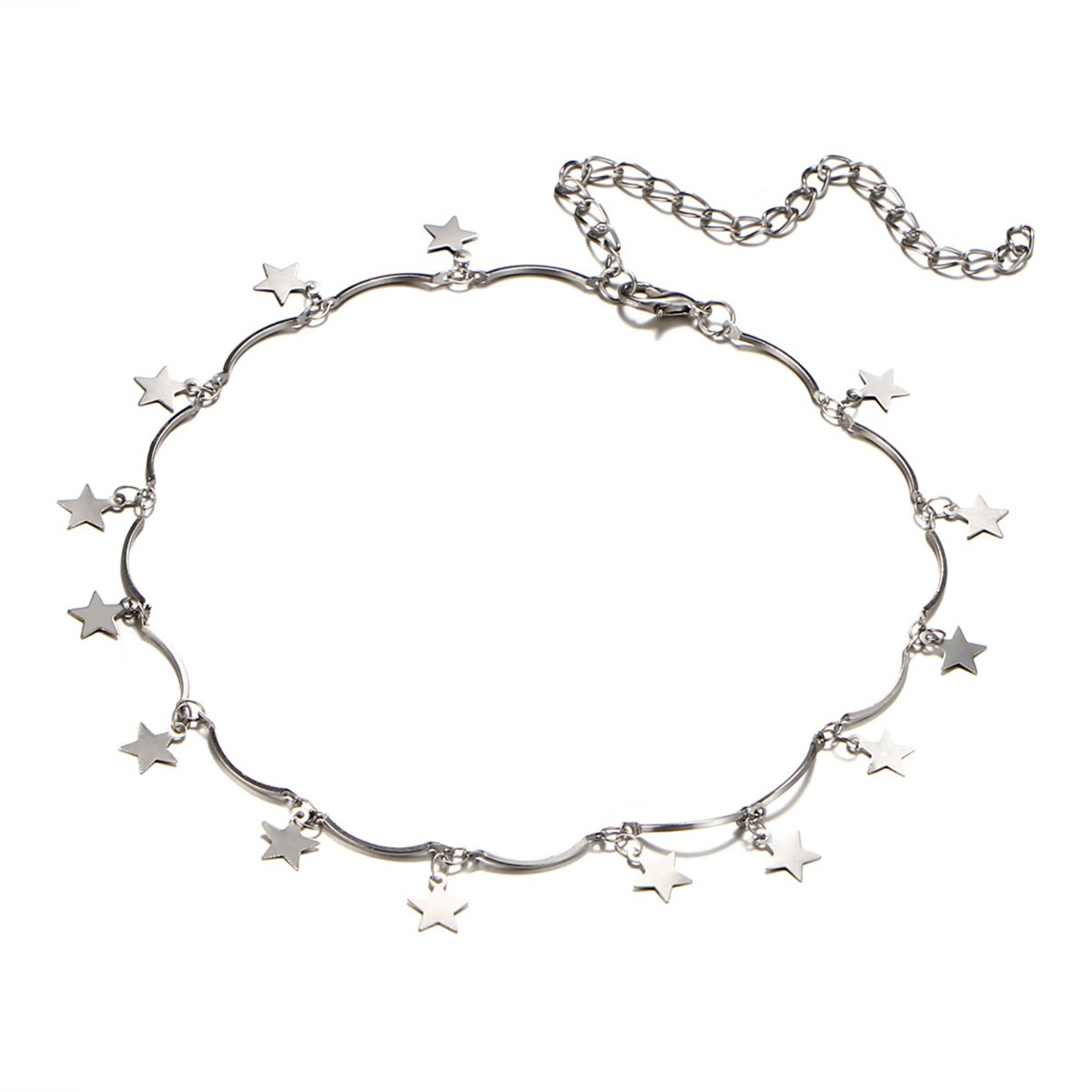 Wish Upon A Star Choker (Silver Plated)