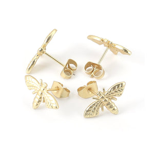 Honey Bee Studs (Gold Plated)