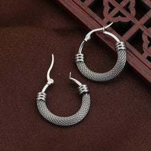 Load image into Gallery viewer, Half Chain Detail Hoop Earrings