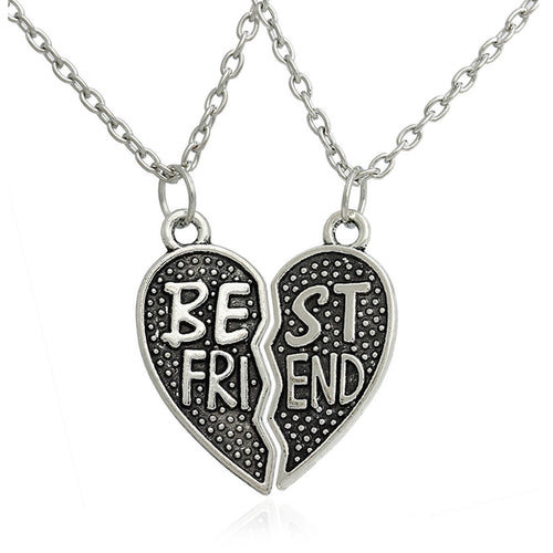 Best Friend Interlocking Heart Necklaces