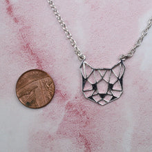 Load image into Gallery viewer, Geometric Cat Necklace