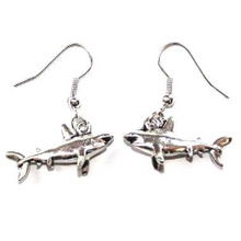 Load image into Gallery viewer, Shark Earrings///Stainless Steel