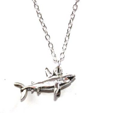 Load image into Gallery viewer, Silver Shark Necklace