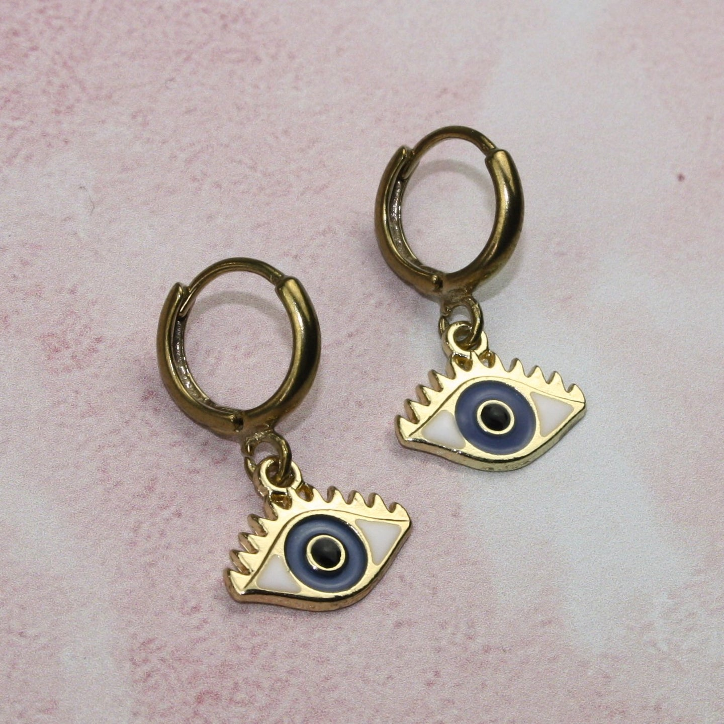 Gold Plated Eye Hoop Earrings