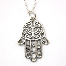 Load image into Gallery viewer, Hamsa Pendant Necklace (Silver)