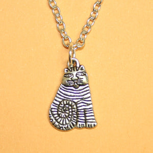 Stripe Cat Necklace