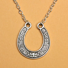 Load image into Gallery viewer, Engraved Horse Shoe Necklace
