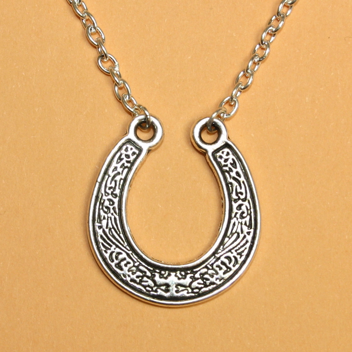 Engraved Horse Shoe Necklace