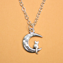 Load image into Gallery viewer, Moon and Cat Necklace